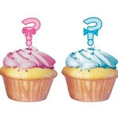 Little Man Or Little Miss Cupcake Picks - pk12