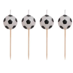Soccer Ball Candles or Food Picks - pk4