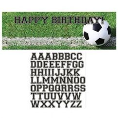 Soccer Fanatic Personalise It Birthday Banner
