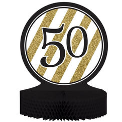 Black & Gold 50 Centrepiece