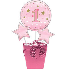 Pink Twinkle Little Star 1 Centrepiece Sticks - pk3