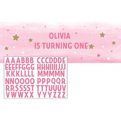 Pink Twinkle Little Star Personalise It Banner