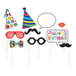 Birthday Photo Stick Props - pk10
