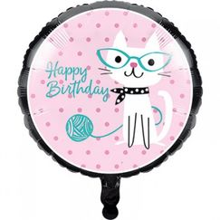 Purrfect Cat Party Foil Balloon (45cm)