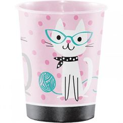 Purrfect Cat Party Plastic Souvenir Cup - EACH