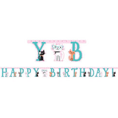 Purrfect Cat Birthday Banner