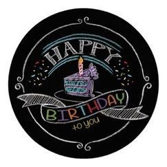 Chalkboard Happy Birthday Snack Plates