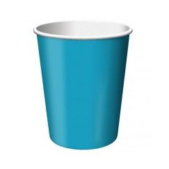 Turquoise Paper Cups - pk24