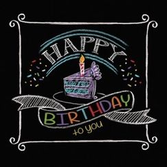 Small Chalkboard Happy Birthday Napkins