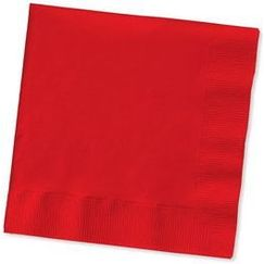 Large Red Napkins - pk50