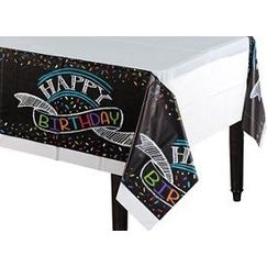 Chalkboard Birthday Tablecloth