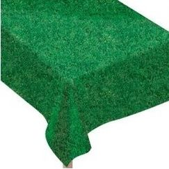 Soccer Fanatic Grass Print Tablecloth