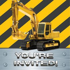 Construction Zone Invitations - pk8