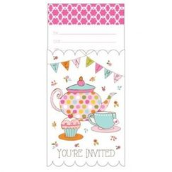 Tea Time Party Invitations