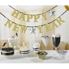 Glitter Happy New Year Banner