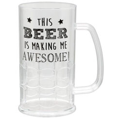 Tall Plastic Beer Mug