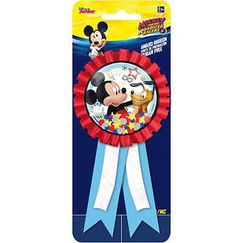 Mickey Mouse Confetti Filled Award Ribbon Badge