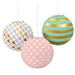 Pastel Hot Stamped Lanterns - pk3