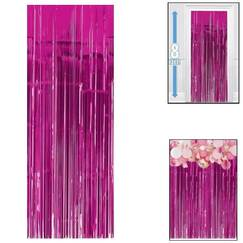 Metallic Bright Pink Curtain