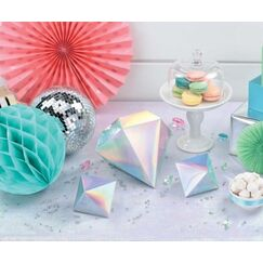 Shimmering Iridescent Table Decorations - pk3