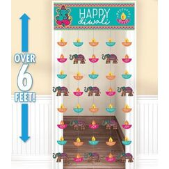 Happy Diwali Door Curtain