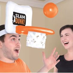 Inflatable Basketball Hoop Game Hat