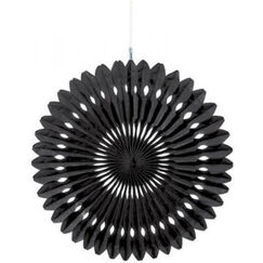 Hanging Black Fan Decoration (40cm)