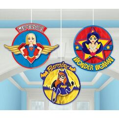 Hanging DC Super Hero Girls Decorations - pk3