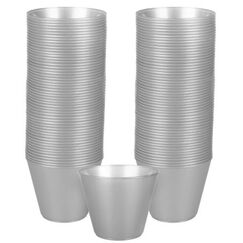Silver Plastic Cups (266ml) - pk72
