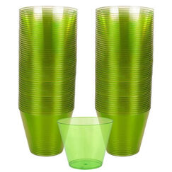 Lime Green Plastic Cups (266ml) - pk72