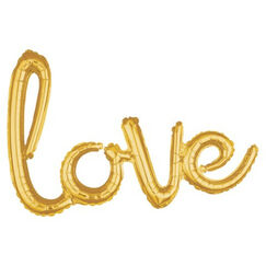 Gold Love Balloon Kit - helium not needed