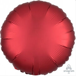 Satin Red Round Balloon (45cm)