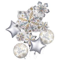 Snowflake Balloon Bouquet (flat) - pk5