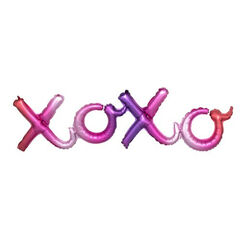 Pink XOXO Balloon Kit - helium not needed