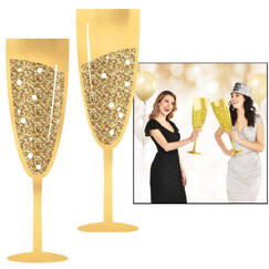 Champagne Glass Photo Props (56cm) - pk2