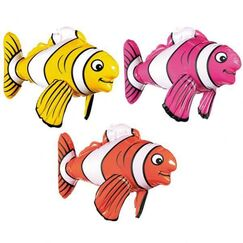 Inflatable Striped Fish - EACH