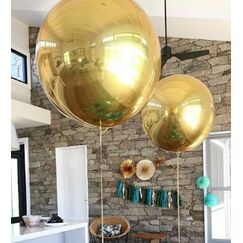 Jumbo Metallic Gold Orbz Balloon (53cm)