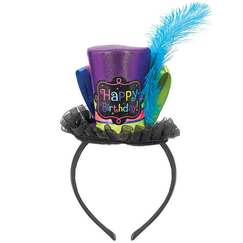 Birthday Mini Top Hat Headband