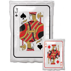 Jack / Queen Playing Card Balloon (43cm)