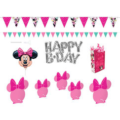 Minnie Mouse Wall And Table Decorating Kit