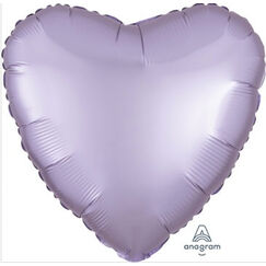 Lilac Satin Luxe Heart Foil Balloon (45cm)