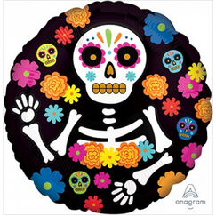Day Of The Dead Foil Balloon (45cm)