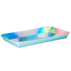 Shimmering Iridescent Serving Trays - pk2
