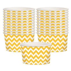 Yellow Chevron Treat Cups - pk20