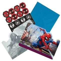 Spiderman Invitations Kit for 8