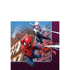 Small Spiderman Napkins - pk16