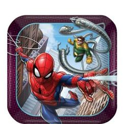 Webbed Spiderman Snack Plates - pk8
