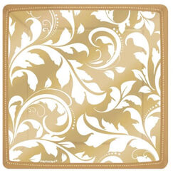 Gold Elegant Scroll Snack Plates - pk8