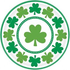 Large Shamrocks Plates - pk8