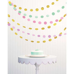 Glitter Pastel Polka Dot Strings - pk6